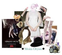 """hand me the eye of newt"" by thewhoreofcookies ❤ liked on Polyvore featuring Dolly Bae, Maison Michel, Cape Robbin, OPI, Jamie Joseph, cute, witch and HemlockGrove"