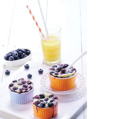 Blueberry Warm Pudding