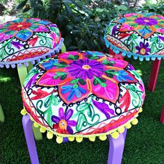 Mark Montano: Cute Upholstered Ikea Pompom Stools