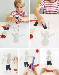 DIY Articulated paper dolls for kids
