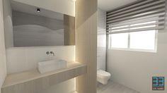 Strakke witte badkamer met grote inloopdouche door ken creemers