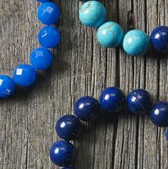 """True blue bracelets"" by Laura Neutz Holmes in the March 2014 issue of Bead Style magazine. beadstylemag.com"