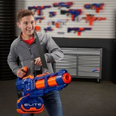 Shop Hasbro Nerf Elite Titan Toy Blaster Blue, Orange at Best Buy. Find low everyday prices and buy online for delivery or in-store pick-up. Unique Gifts For Boys, Nerf Toys, Nerf Games, Brand Character, Star Wars Gifts, Toys Online, Toys Shop, Building Toys, Darts