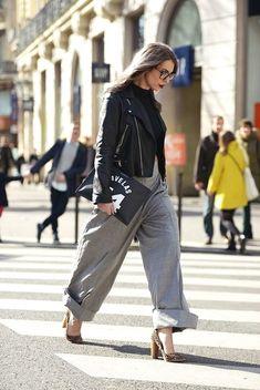 20 stylish ways to wear a motorcycle jacket - my cute outfits street style outfits Street Style Chic, Stockholm Street Style, Street Style Women, City Style, Fashion Over, Love Fashion, Womens Fashion, Style Fashion, Tartan
