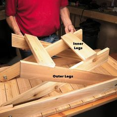 Fold-Up Grill Table A handy companion for your barbecue that collapses for easy storage. Folding Table Diy, Fold Up Table, Folding Camping Table, Woodworking Patterns, Woodworking Shop, Woodworking Plans, Woodworking Projects, Diy Projects, Woodworking Classes