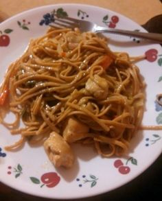 Chicken Lo Mein, amazing! Made mine with peas, carrots and broccoli, making this again for sure! So much better than take out