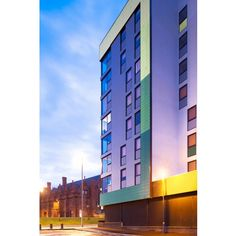 """A total of five colours of Steni rainscreen cladding panels, including four specials, were specified for new-generation student accommodation to meet planners' requirements for a """"quality"""" product. Rainscreen Cladding, Cladding Panels, Construction News, Social Housing, Liverpool, Planners, Skyscraper, Multi Story Building, Meet"""