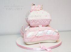 Pillow cake christening baptism cake girl