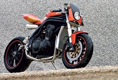 """racecafe:  widecool:  Angel Lussiana's Triumph Speed Triple    """