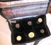 6 bottle insulated wine bag is logo printed 2 colors 2 sides with 23 fabrics to choose from INCLUDED IN PRICE and NO PRINT SET UP FEES
