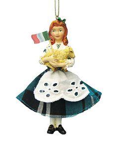 Another great find on #zulily! Irish Girl Ornament #zulilyfinds