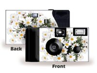 Spring White Daisy Custom Disoposable Camera