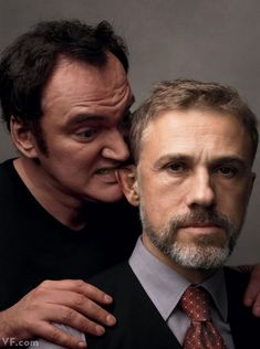 Quentin Tarantino and Christoph Waltz by Annie Leibovitz. Especially Christoph Waltz. Quentin Tarantino, Tarantino Films, Christoph Waltz, Leonardo Dicaprio, Hollywood, Annie Leibovitz Photography, Best Actor, Famous Faces, Celebrity Photos