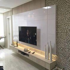 37 amazing tv unit design ideas for your living room 25 Living Room Modern, Home Living Room, Living Room Decor, Modern Tv Wall Units, Tv Unit Furniture, Living Room Tv Unit Designs, Tv Wall Decor, Tv Wall Design, Lorena Lima