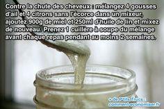 Utilisez de l'huile de lin pour lutter contre la chute des cheveux Je n'ai pas testé !