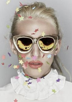 After over 10 years of redefining statement eyewear, the Karen Walker brand is creating a collection of the most popular designs titled - Celebrate - to mark the major milestone. They're reissuing one frame for every year, starting with Annie from 2005, working their way to models like the Number One and jazzing them up in a reflective golden-yellow hue.