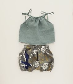 Blue Bird Summer Bloomers / moonroomkids on Etsy