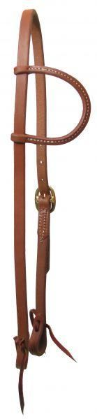 Showman™ oiled harness leather single buckle one ear headstall