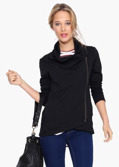 A classic black zip up... a must for fall! I think I've about worn my old one out!