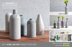 HomeMade Modern DIY EP27 Concrete Vases Postcard