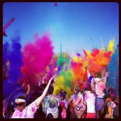 Color Run! Every kilometer you get blasted with color...maybe my next 5k?
