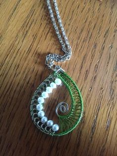handmade green weave neck... - Dragonfly Creations | Scott's Marketplace
