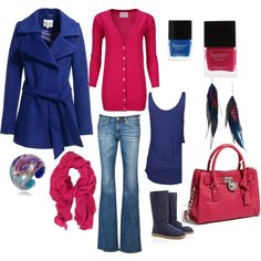 """""""Blue and Pink"""" by lagu on Polyvore"""