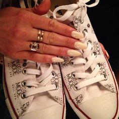 Anna's nails for the staff Christmas party alongside her custom Deco De Mode Converse.
