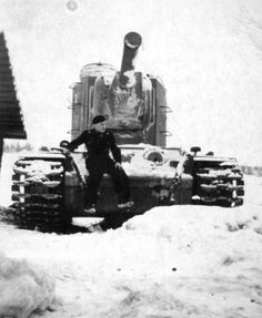KV-2 tanks. The Russian BEAST! With a 152mm mortar gun! #worldwar2 #tanks