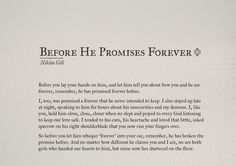 Before he promises forever by Nikita Gill