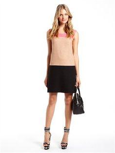 Sleeveless Color Block Shift Dress