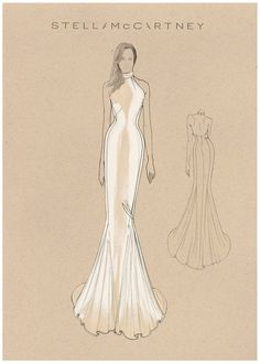 Givenchy and Stella McCartney both shared sketches of the two wedding dresses Meghan Markle wore for Saturday's royal wedding. Wedding Dress Sketches, Dress Design Sketches, Fashion Design Sketches, Second Wedding Dresses, Evening Dresses For Weddings, Couture Wedding Gowns, Designer Wedding Gowns, Bridal Designers, Gown Designer