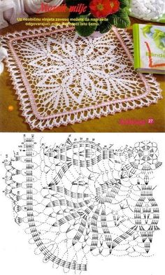 Transcendent Crochet a Solid Granny Square Ideas. Inconceivable Crochet a Solid Granny Square Ideas. Crochet Square Patterns, Crochet Diagram, Crochet Chart, Crochet Squares, Thread Crochet, Crochet Granny, Filet Crochet, Crochet Motif, Crochet Designs