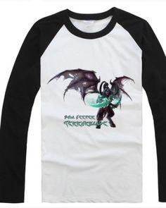 Camisa DOTA Terrorblade t camiseta de manga comprida branca para o homem-