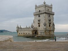 Belem Tower is Lisbon, Portugal's most famous landmark. It stands as the city's most renowned symbol situated along the Tagus riverbank.