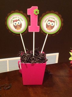 """Photo 9 of 24: Owls / Birthday """"Look Whoo's Turning One"""" 