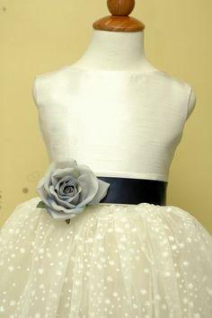 Wedding flower girl dress SASH for  weddings by juliettaboutique, $27.00