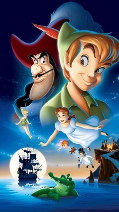 """Wallpaper for """"Peter Pan"""" Disney Art, Disney Movies, Disney Pixar, Disney Characters, Peter Pan Characters, Peter Pan 1953, Peter Pan Art, Peter Pan Movie, Disney Phone Wallpaper"""