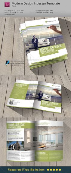 Modern & Light Design Indesign Template Brochure