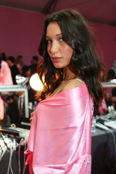 Bella Hadid from Backstage at the 2016 Victoria's Secret Fashion Show  Gigi's little sisteris ready forher Victoria's Secret runway debut.
