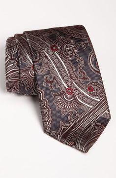 Ermenegildo Zegna Woven Silk Tie | Nordstrom Designer Ties, Tied Shirt, Elegant Man, Tie Dress, Haberdashery, Basic Colors, Pure Silk, Silk Ties, Paisley
