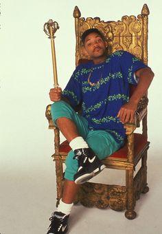 Fresh Prince on his throne.