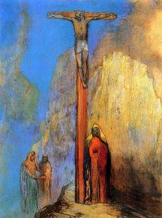 Calvary,Odilon Redon  Size: 69x53 cm Medium: pastel on paper