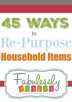 So many purposeful ways to re-use items to save you time, money, and energy around the home! Great DIY ideas for home organization and lif hacks! You can find our re-purposing ideas on the blog.