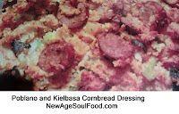Polbano and Kielbasa Cornbread Stuffing