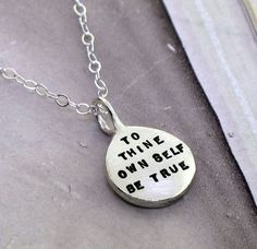 To Thine Own Self Be True  sterling silver by KathrynRiechert, $46.00