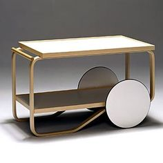 Alvar Aalto Tea Trolley 901    Could keep your ongoing projects organized on this.