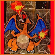 Charizard Pokemon perler beads by harvardropout