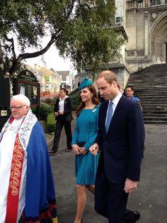 twitter:  Cambridge Royal Tour-Day 6, Dunedin, New Zealand, April 13, 2014-The Duke and Duchess of Cambridge leave church following Palm Sunday service in Dunedin