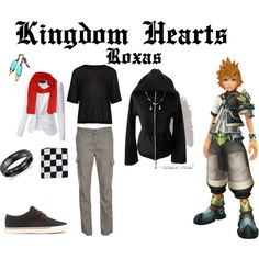 """""""Kingdom Hearts Casual Costume: Roxas"""" by andi800 on Polyvore"""